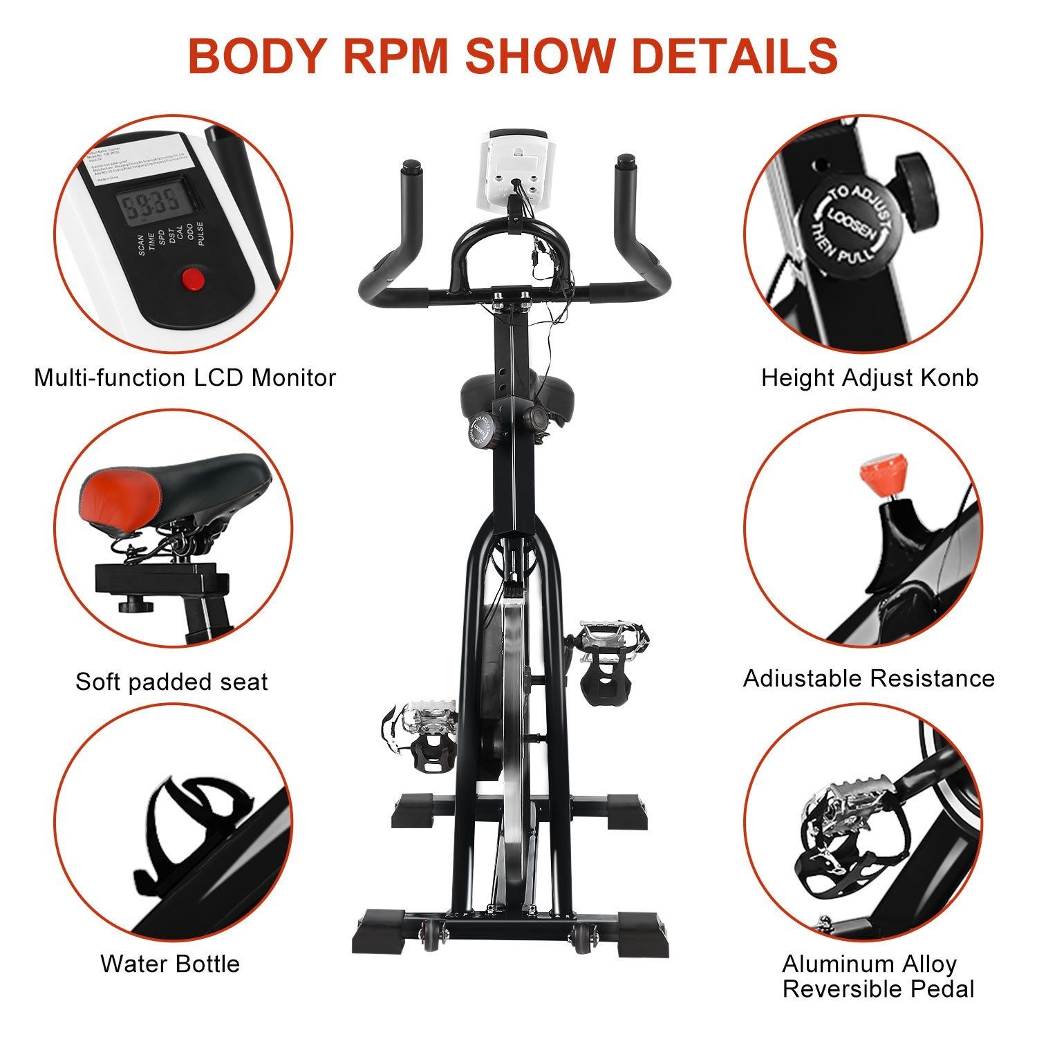 Belovedkai Indoor Cycling Bike Cycle Trainer Exercise Bicycle