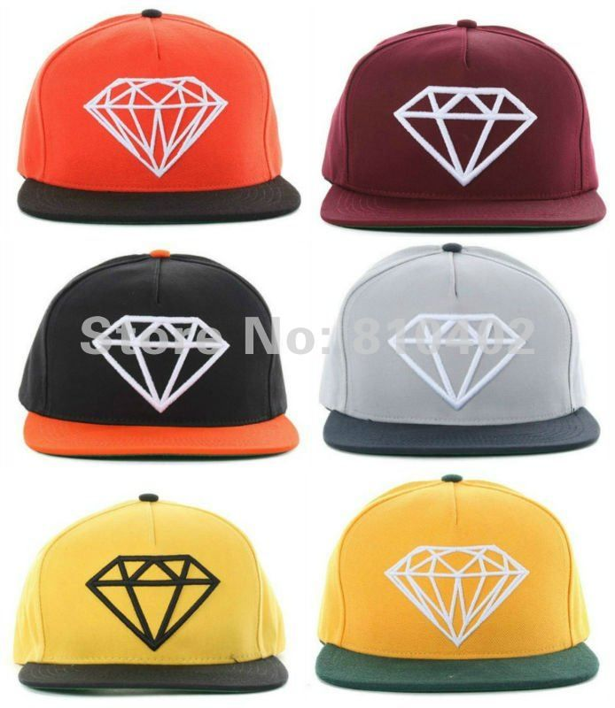 1Pcs Freeshipping New 15 Different Colors High Quality Designer Diamond Snapback Baseball Caps Adjustable Sports Hats-in Baseball Caps from Apparel & Accessories on Aliexpress.com $8.50