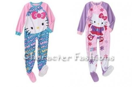 Details about HELLO KITTY Size 4 5 6 6X 7 8 10 12 GIRLS Footed ...