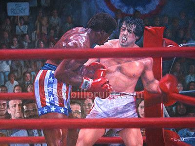 "This is an ORIGINAL oil painting from the classic movie ""Rocky"" measures 30""x40"" on stretched canvas. It is sealed with 2 coats of varnish so it will be preserved for many generations."