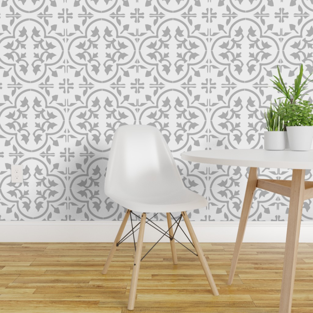 Peel And Stick Removable Wallpaper Encaustic Tile Cement Morroccan Mexican Moroccan Wallpaper Tile Wallpaper Cement Tile