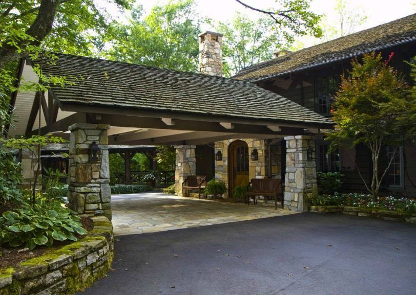 N C Lake House Combines Southern Charm Adirondack Style Lake House Carport Designs Barn House Plans
