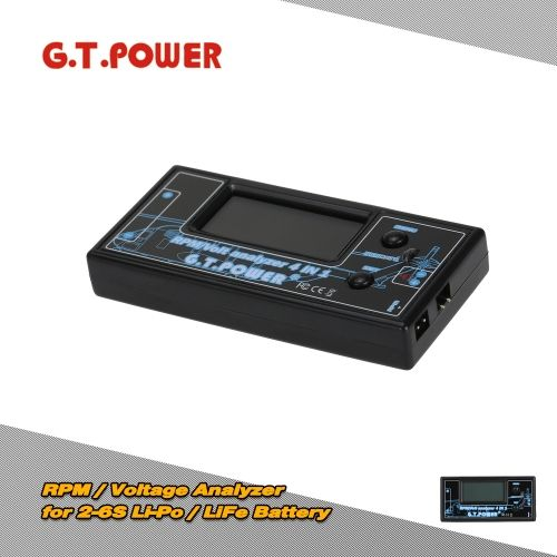 G.T.POWER 4in1 RPM / Voltage Analyzer for 2-6S Li-Po / LiFe Battery