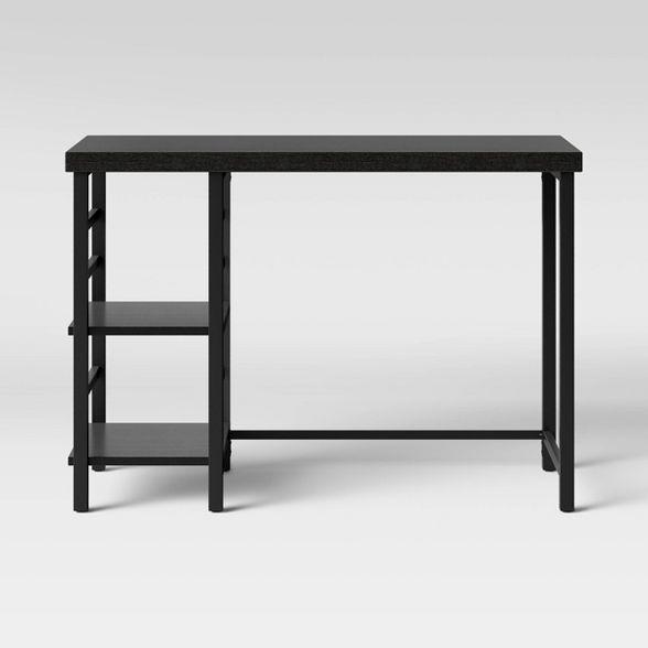 Adjustable Storage Desk Espresso Brown Room Essentials Desk Storage Black Rooms Black Desk
