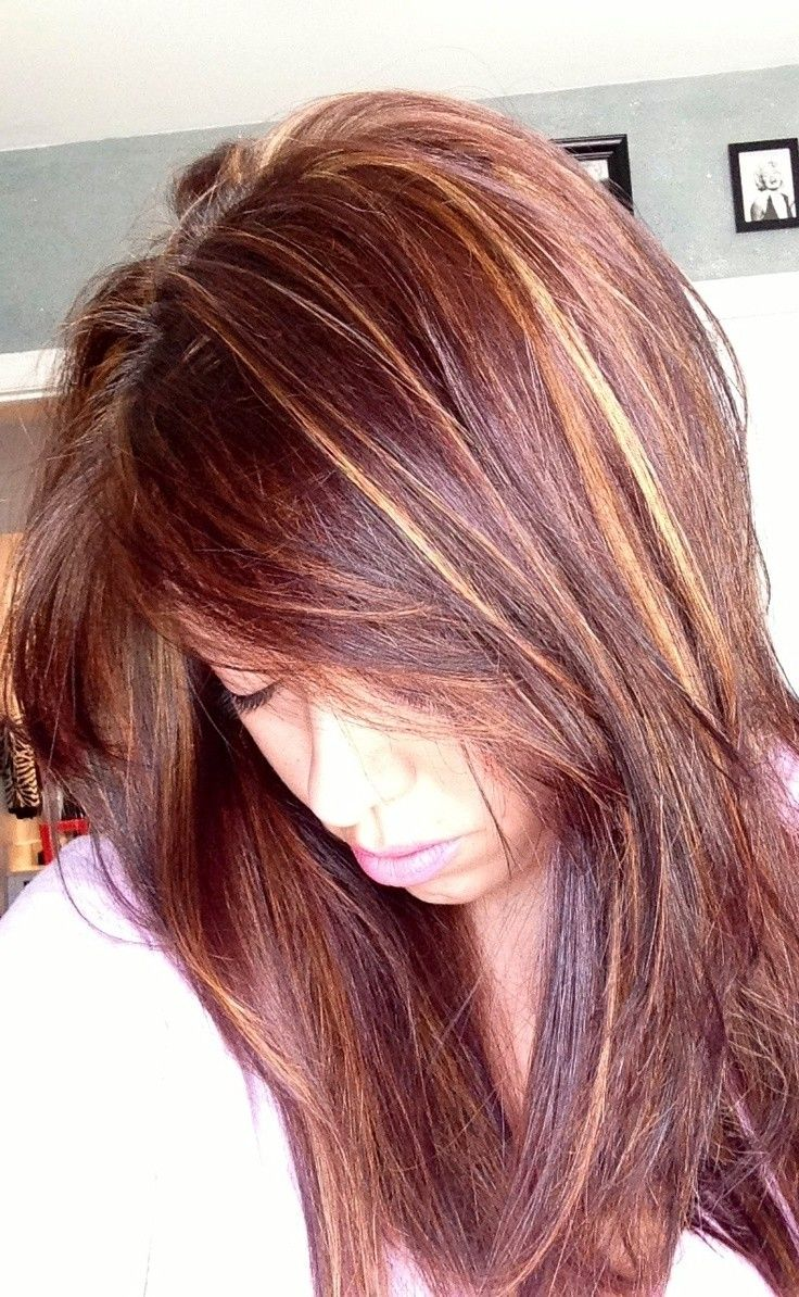 auburn hair color with highlights - Google Search