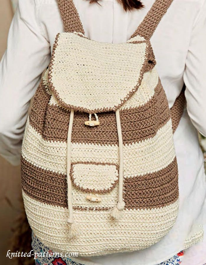 Backpack crochet pattern | carteras muy delicadas | Pinterest ...