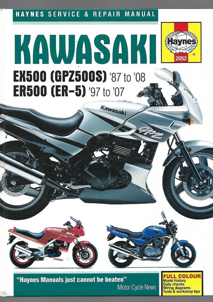Haynes Kawasaki Ex500 Gpz500s Er500 Er