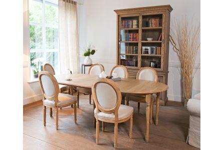 Table extensible ronde bois à rallonges - 115 cm - Pieds tournés ... a71bcb0d0deb