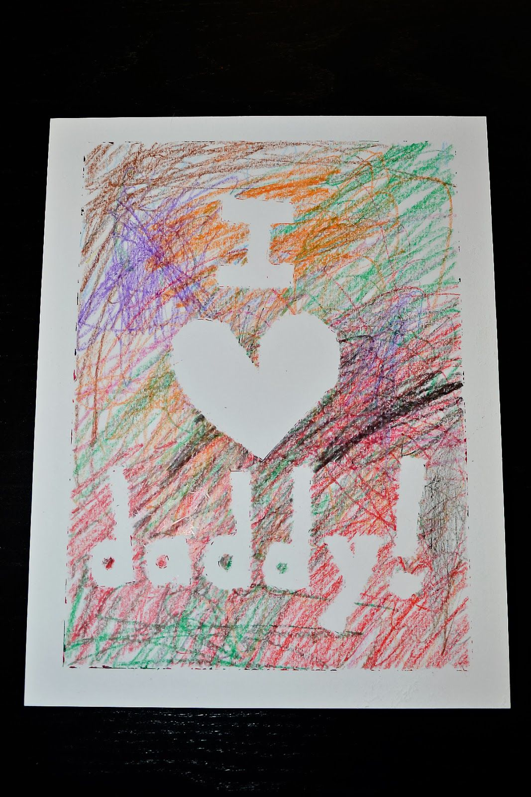 scribble card toddler card for daddy happy birthday daddy card