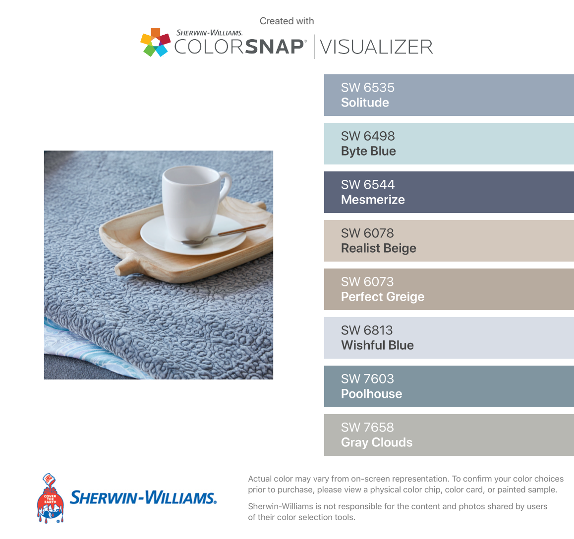 I Found These Colors With Colorsnap Visualizer For Iphone By Sherwin Will Sherwin Williams Paint Colors Blue Sherwin Williams Paint Colors Beige Color Palette