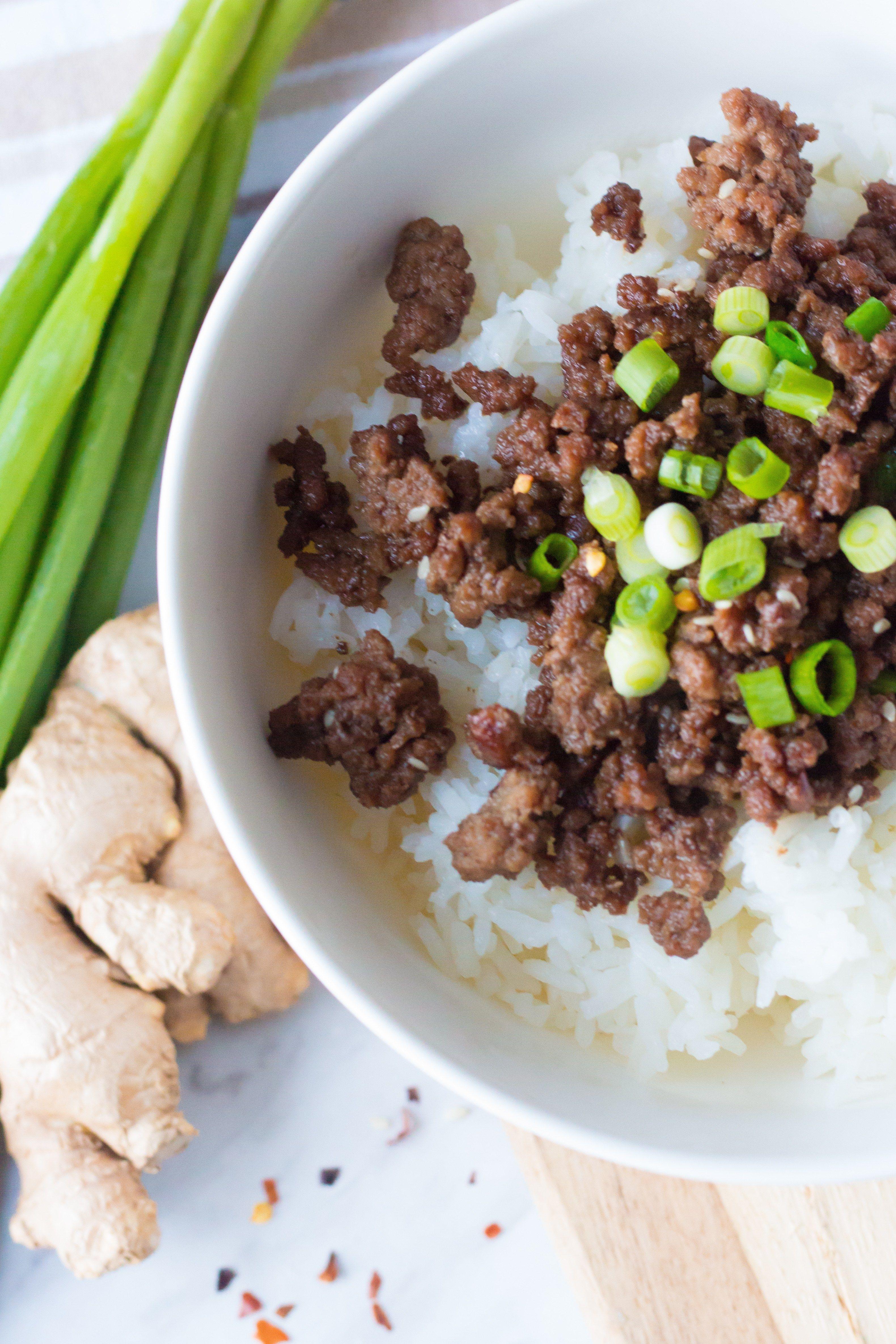 Tasty Korean Ground Beef And Rice Bowl Recipe Korean Ground Beef Ground Pork Recipes Easy Rice Bowls Recipes