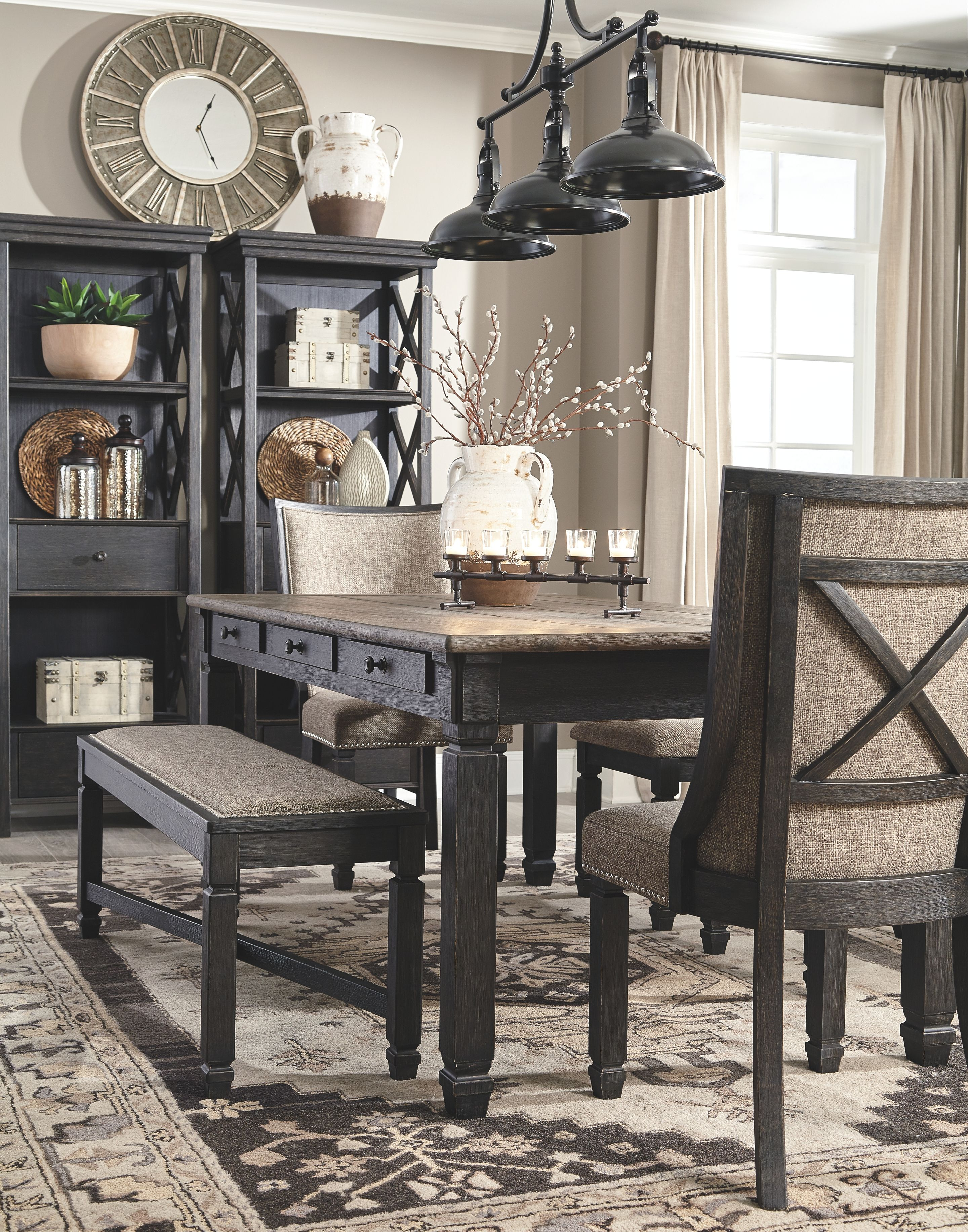 Tyler Creek Dining Table Ashley Furniture Homestore Dining Room Small Farmhouse Dining Rooms Decor Farmhouse Dining