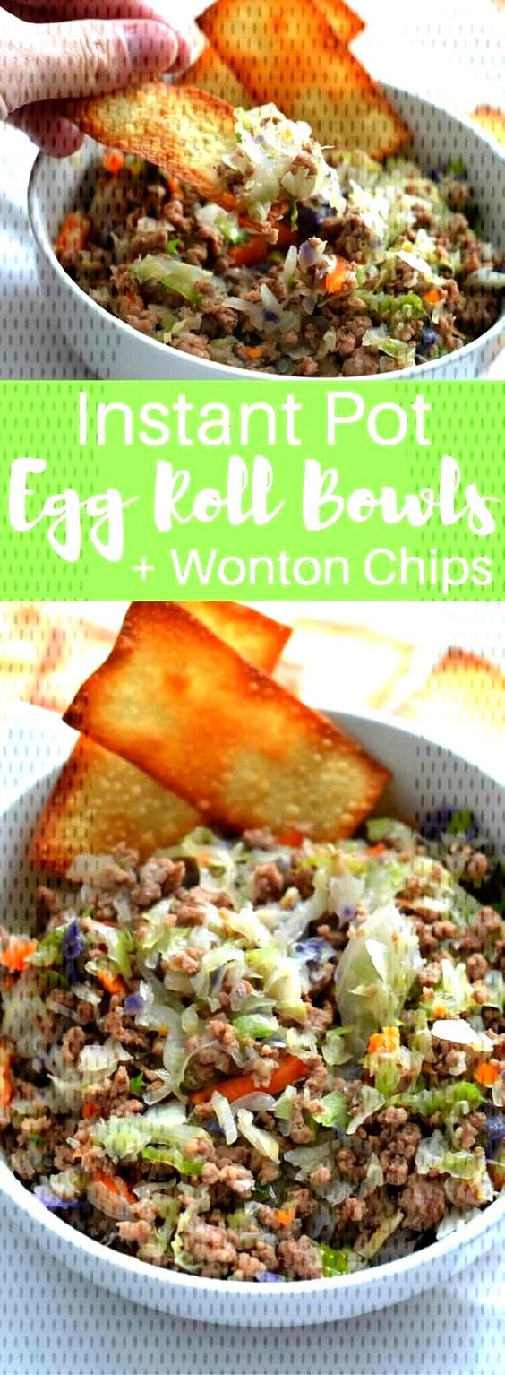 Instant Pot Egg Roll Bowls