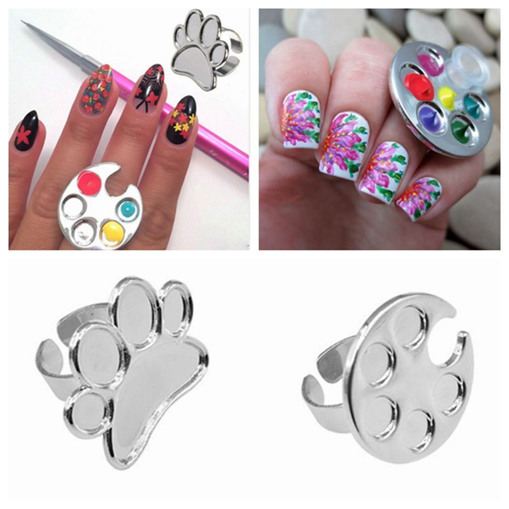 Mini Finger Nail Art Mixing Palette Accessory For Free Hand Manicure ...