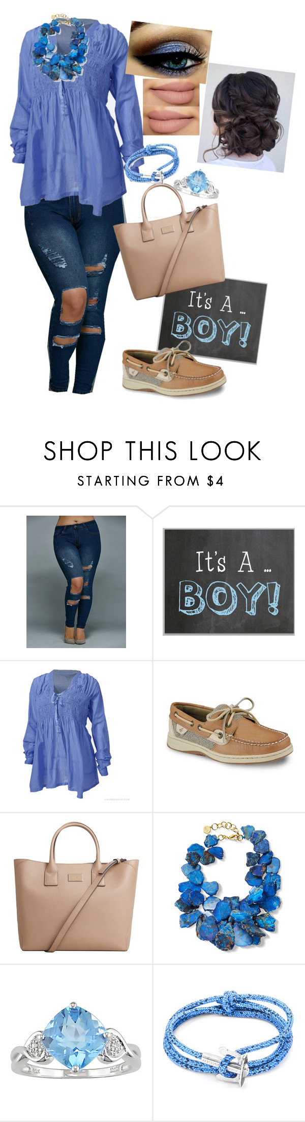 """Boy 💙"" by meganfinneyfrock on Polyvore featuring Sperry, MANGO, NEST Jewelry, Ice and Anchor & Crew"