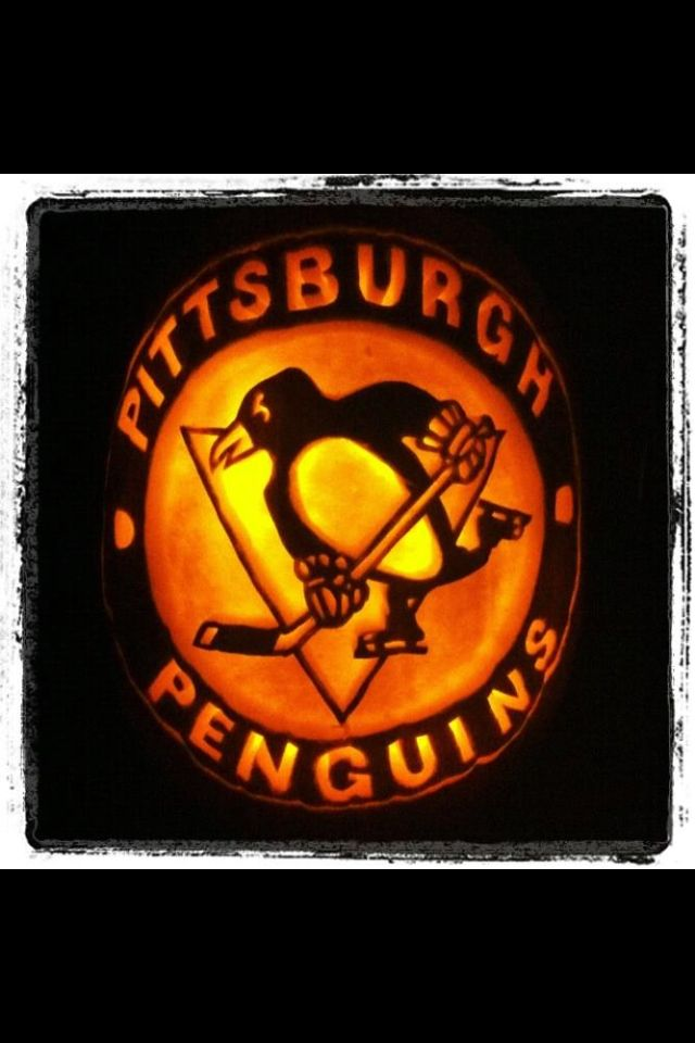Penguins pumpkin.