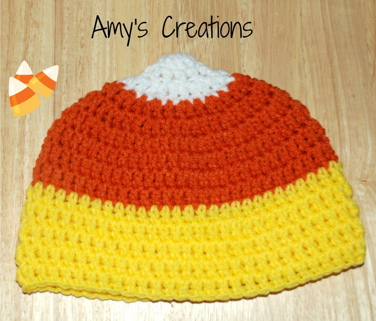 Crochet Candy Corn (All Sizes) | Kids hats patterns ...