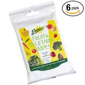 Environne Fruit & Vegetable Wipes, 12-Count Pouches (Pack of 6)