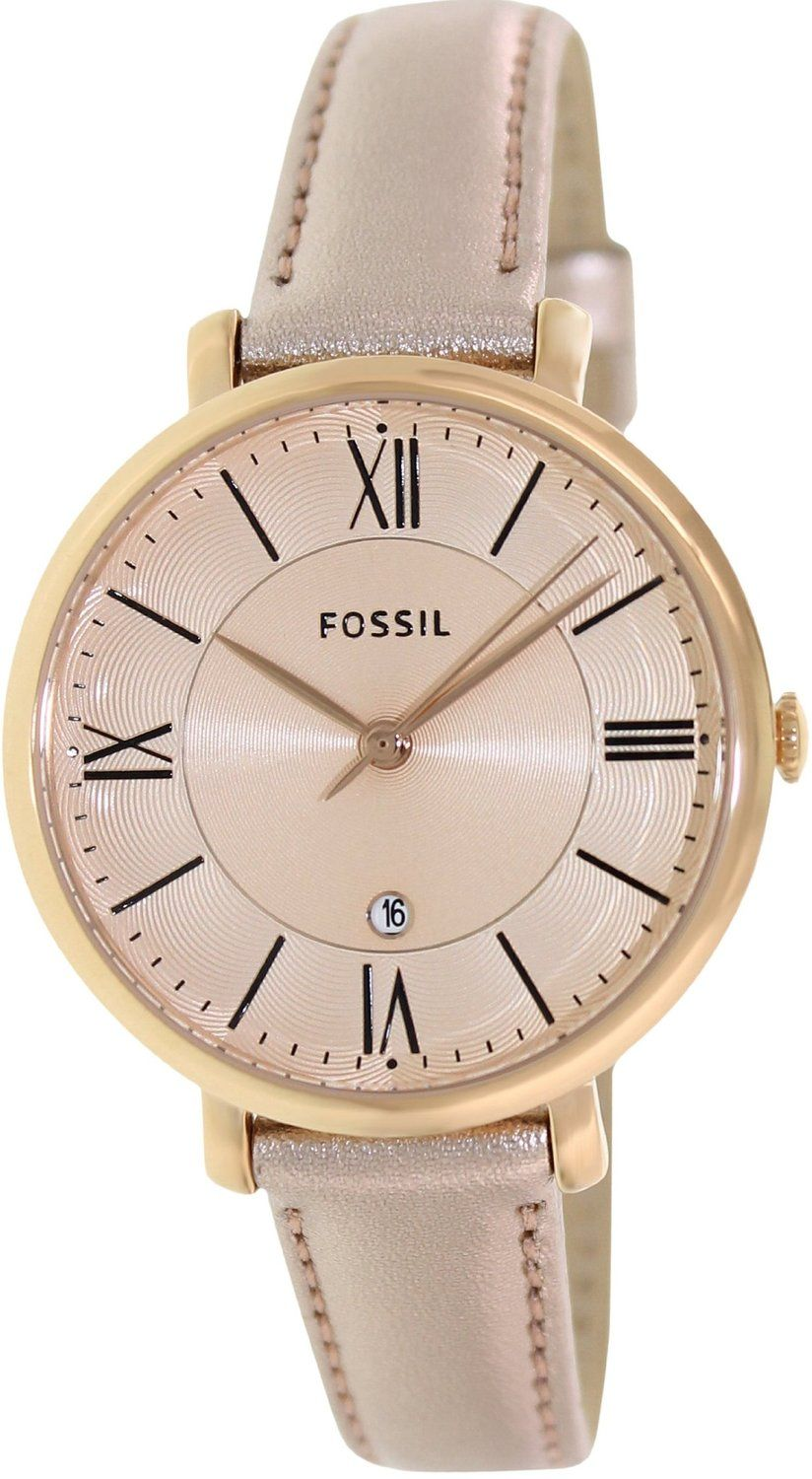 fossil watch women Fossil Womens Jacqueline ES3438 Rose ...