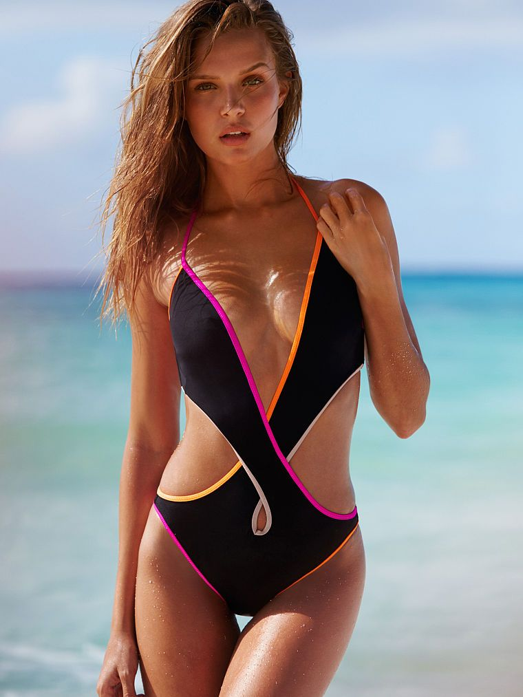 7169c40430916 Don t let bikinis have all the fun! This one-piece is a winner with a  seriously hot crisscross cut-out.