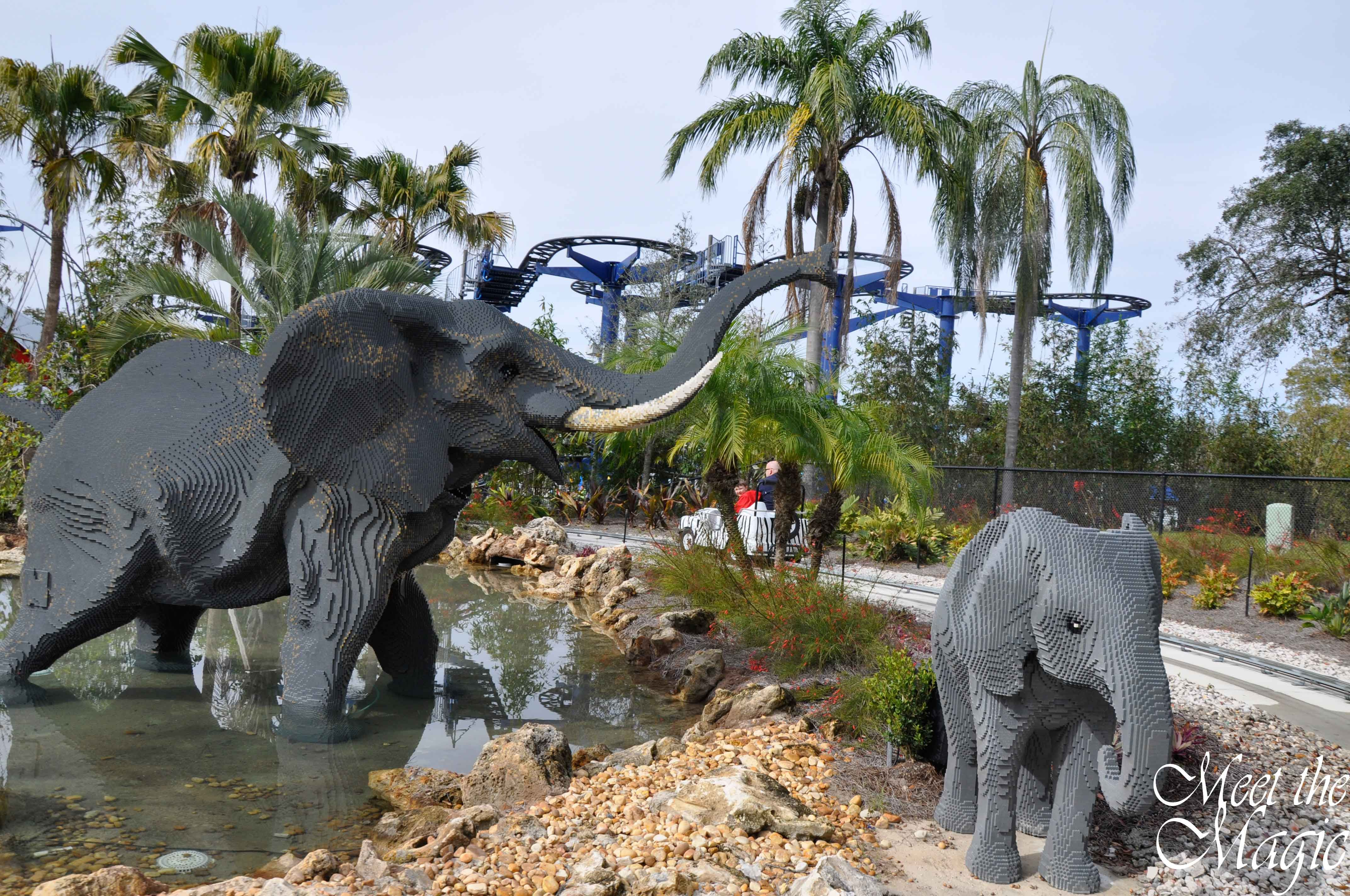I can't believe how real the baby elephant looks. #LEGOLANDFlorida