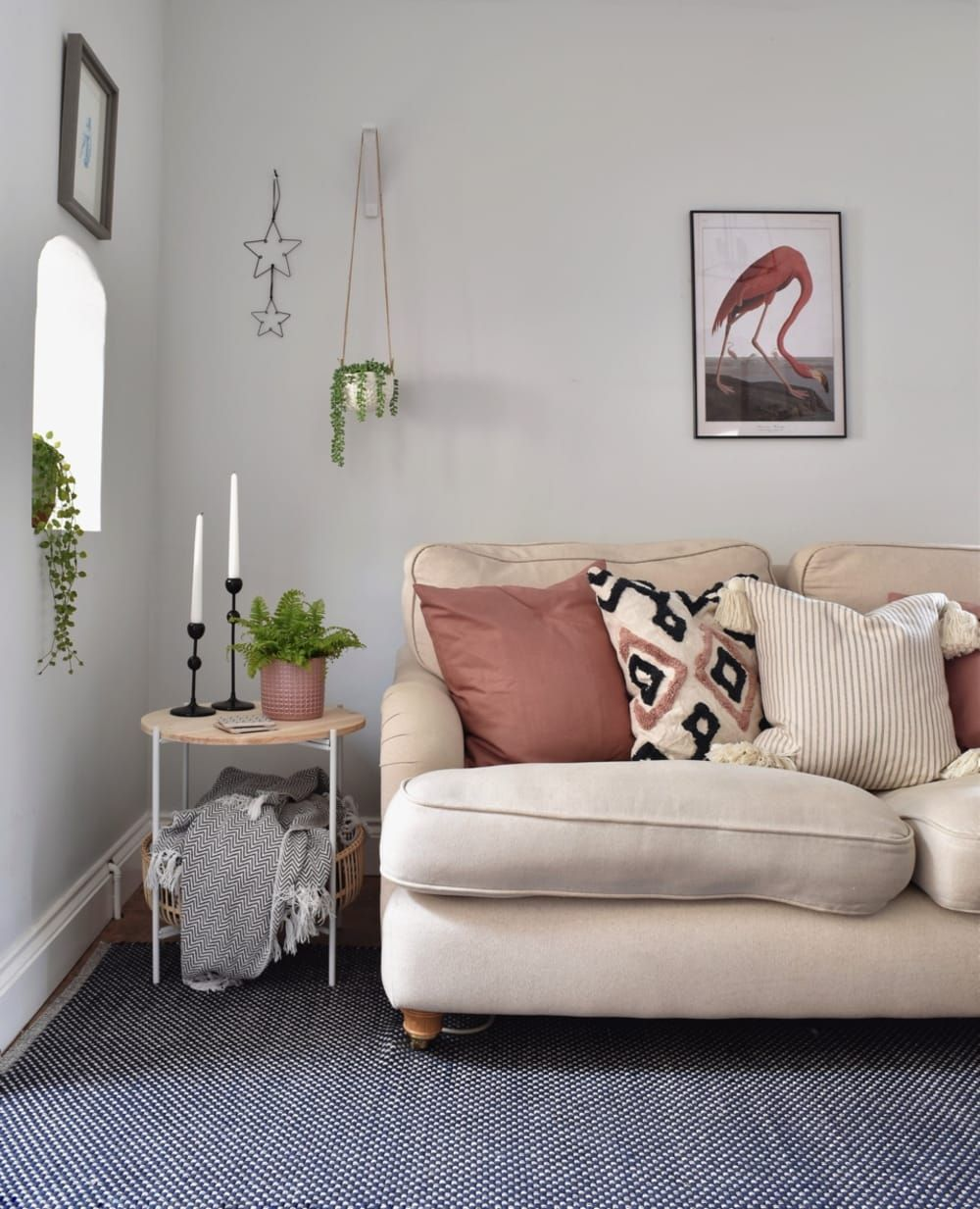 A Scandi Inspired Uk Home Has A Beautiful Color Palette Blue And Pink Living Room Color Palette Living Room Pink Living Room #relaxing #color #for #living #room