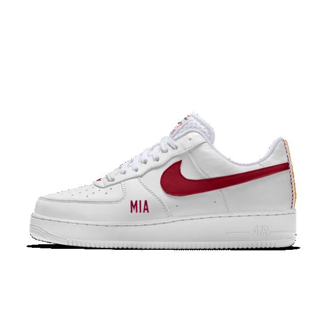 premium selection f4f6d 45c9a Nike Air Force 1 Low Premium iD (Miami Heat) Men s Shoe