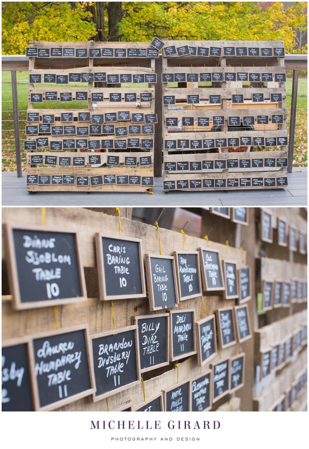 Pallet wedding decor ideas  Rustic Fall Wedding at the Candlelight Farms Inn in New Milford CT