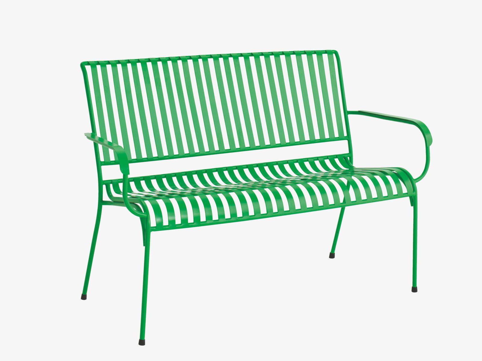 INDU GREENS Metal Green metal garden bench HabitatUK