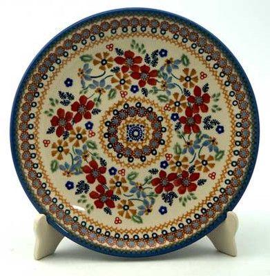 8.5\  Salad Plate. Ruby Duet pattern. Polish Pottery Outlet. Stunning  sc 1 st  Pinterest & 8.5\
