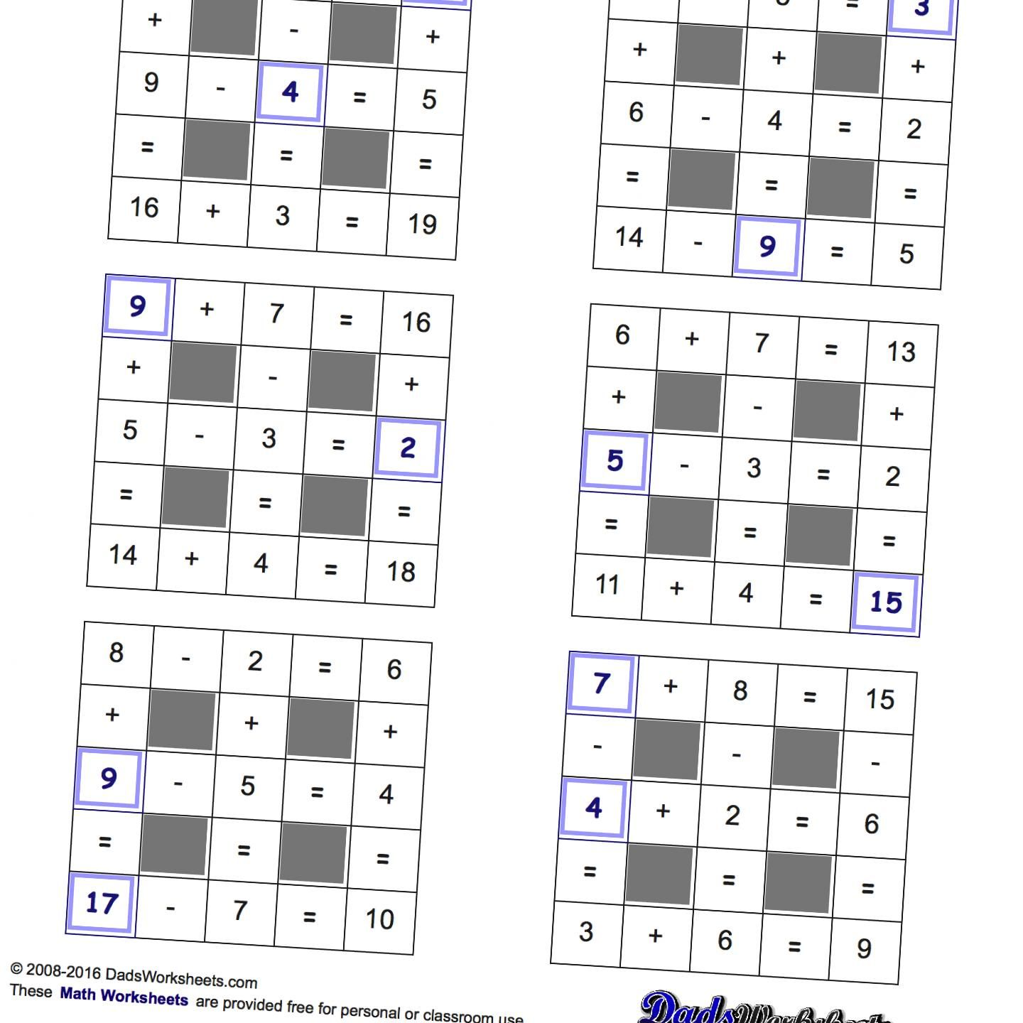 Free math worksheets for Number Patterns problems in various formats ...