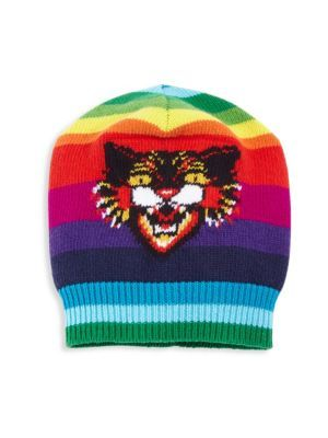 GUCCI Multicolor Angry Cat Wool Hat.  gucci  hat  dc095df076b5