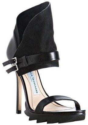 ShopStyle: Camilla Skovgaard black leather buckle detail cuffed platform sandals