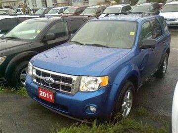 2011 Ford Escape Xlt Mileage 13 051km Exterior Blue Interior Black Ford Escape Xlt Ford Escape Vehicles