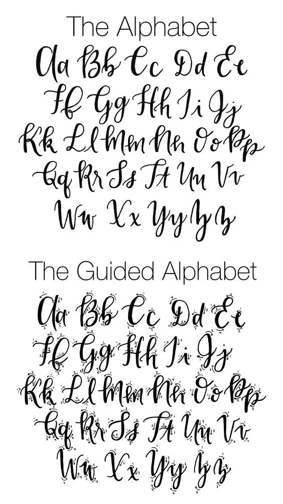 The perfect fauxligraphy guide, a perfect replacement for