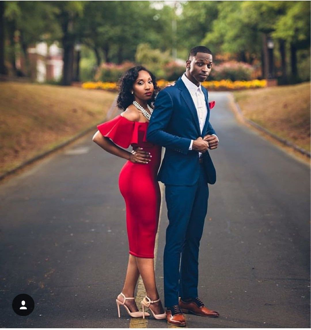 Engagement Photo Outfits: Black Love Couples