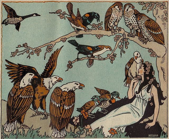 Mother Nature and the birds ill by E. Horton by katinthecupboard, via Flickr