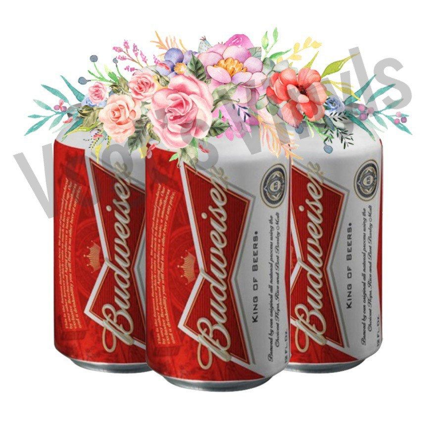 Excited To Share This Item From My Etsy Shop Floral Beer Cans Png File Budweiser Sublimation File Instant Download Etsy Sublime Handmade Gifts
