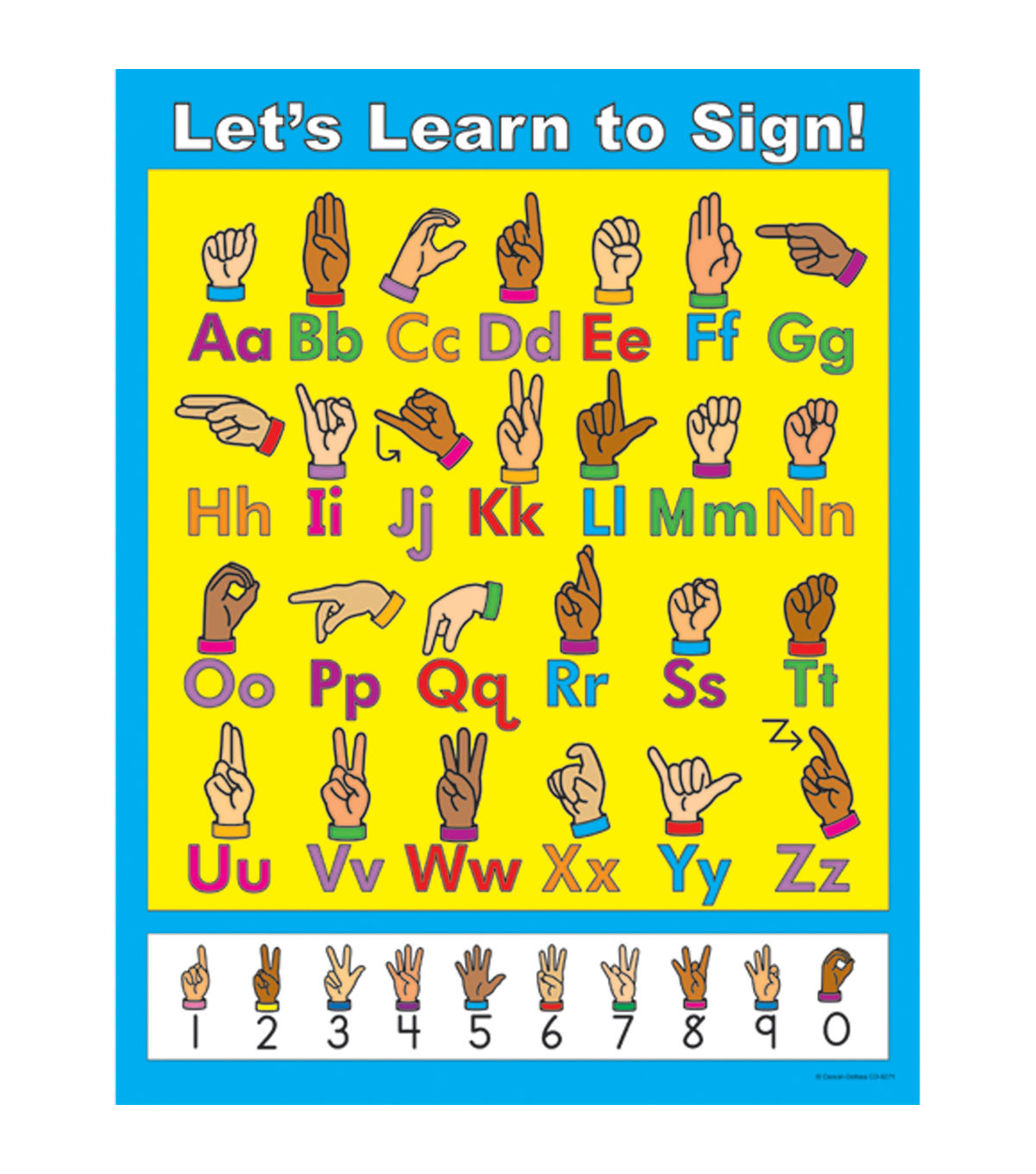 Carson Dellosa Let S Learn To Sign Chart 6pk With Images