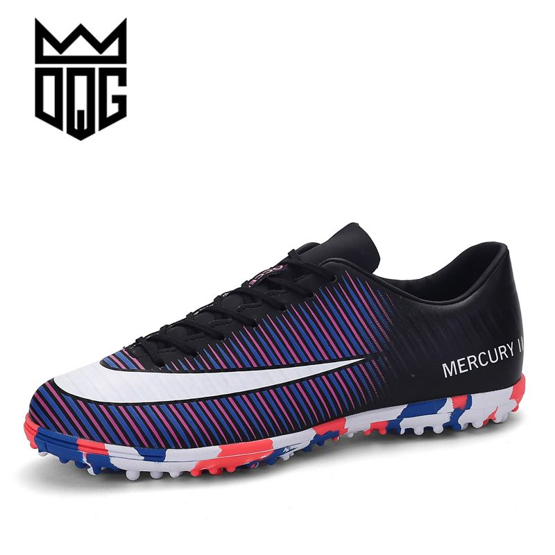 6f642ce3a8e DQG Men Soccer Cleats Football Shoes FG Football Boots For Men Training Boots  Long Spikes Professional Soccer Sprot Sneakers