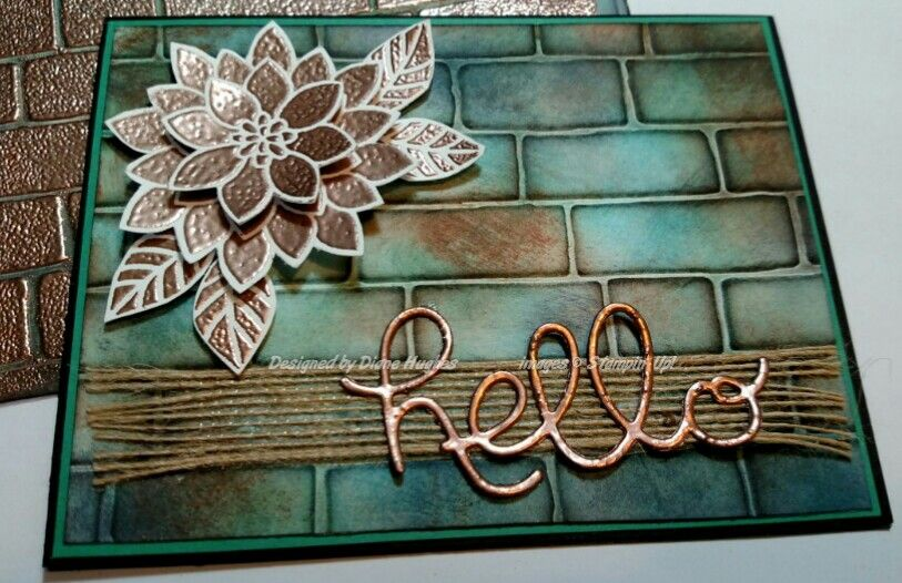 copper hello no faux card by diane617 - Cards and Paper Crafts at Splitcoaststampers, Stampin' Up! Flourishing Phrases
