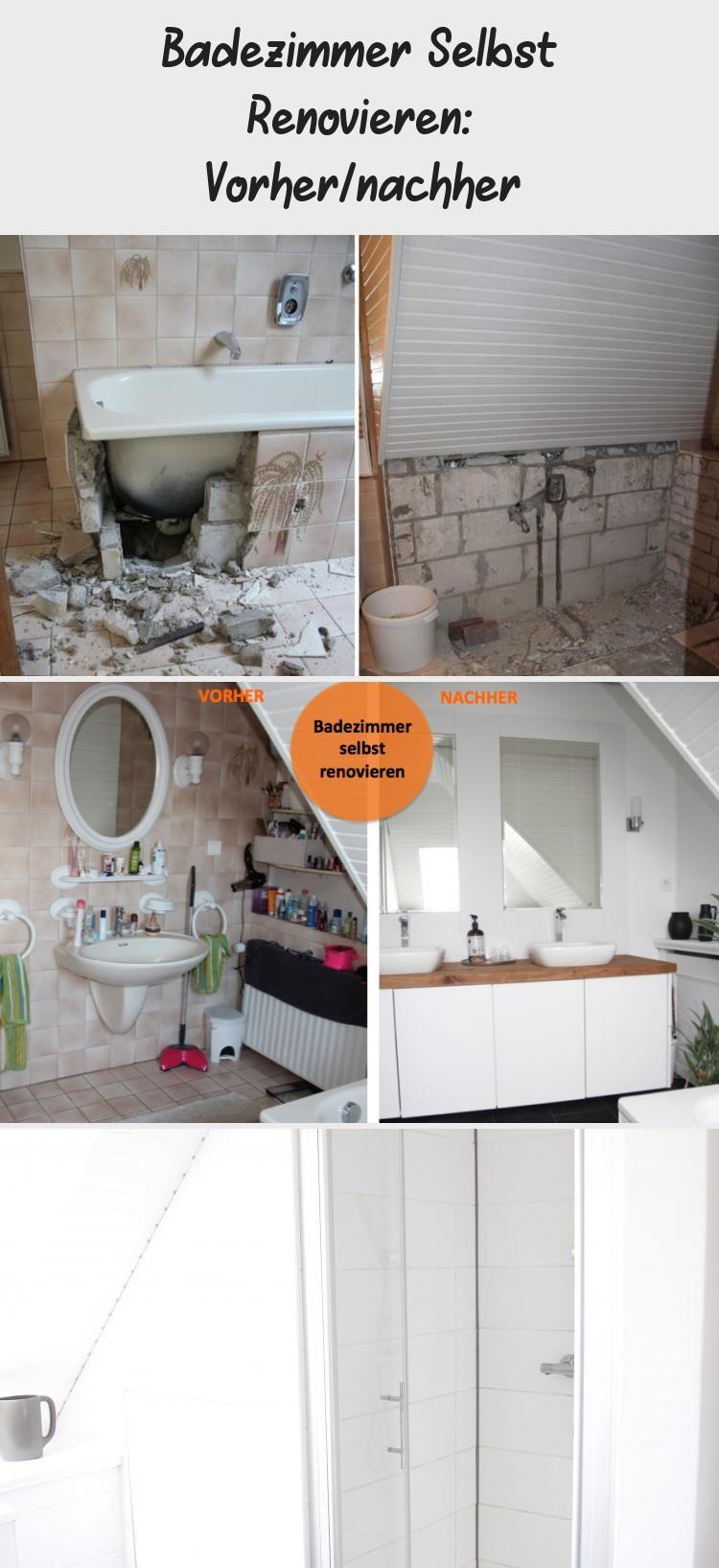 Badezimmer Selbst Renovieren Vorher Nachher Round Mirror