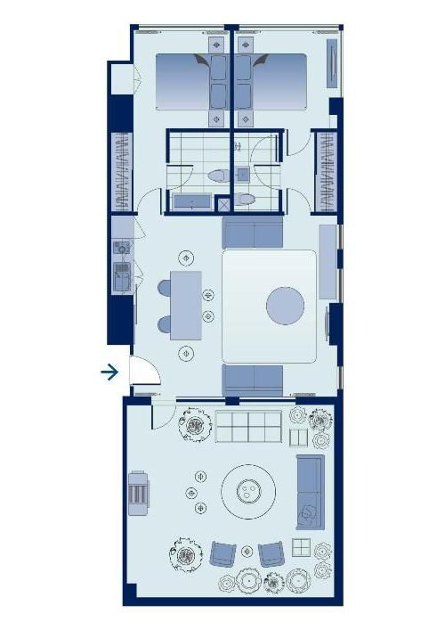 shama fortress hill - two bedroom terrace apartment | plan