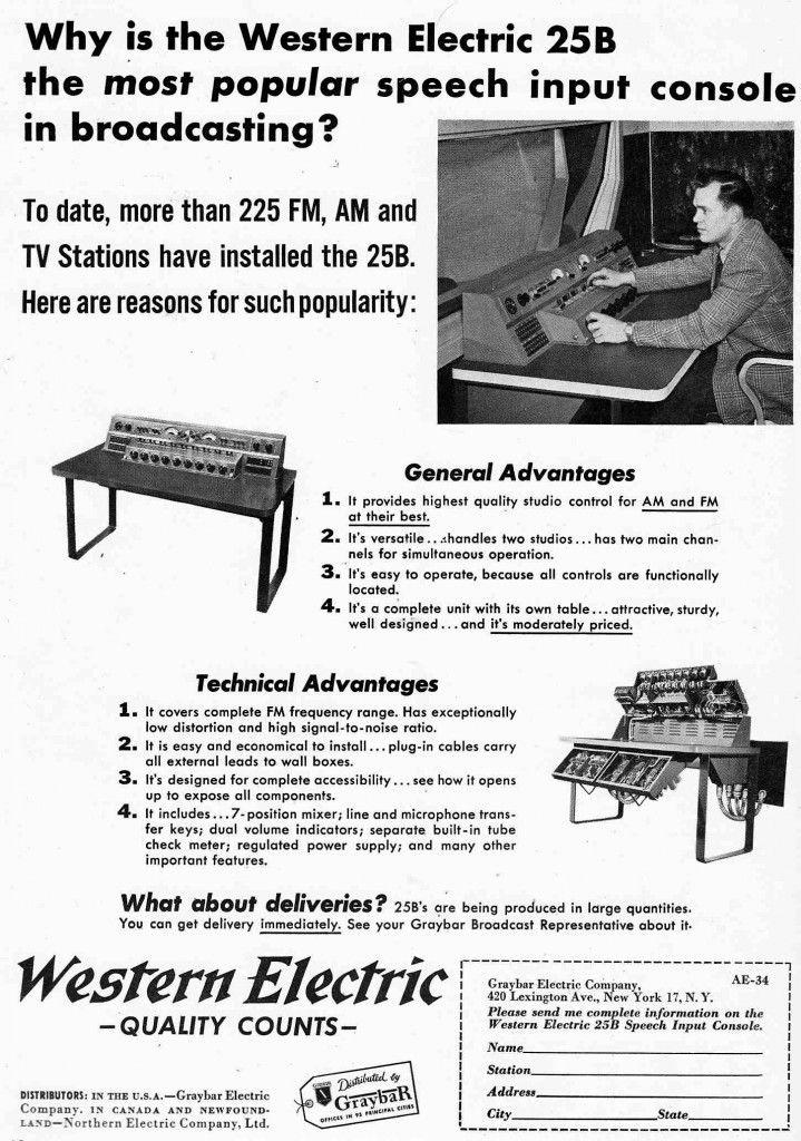 WE 25B Electricity, Westerns, Vintage speakers