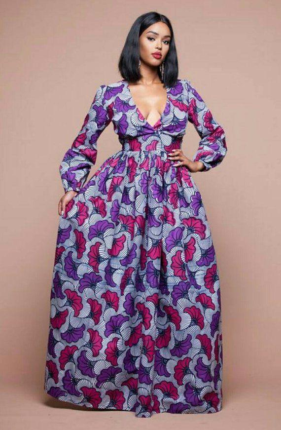 51519c2b313 Ubi African Print Dress Wedding Prom Engagements Red Carpets Ankara Dress Maxi  Dress Women s Clothin