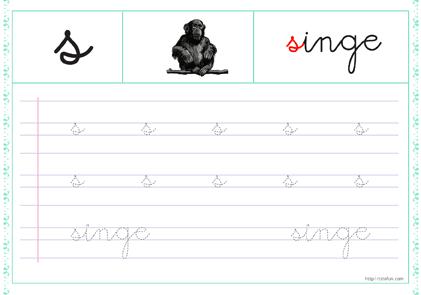 Pdf Fiche Alphabet A Imprimer Minuscule Cursive A Renforcer Chaque