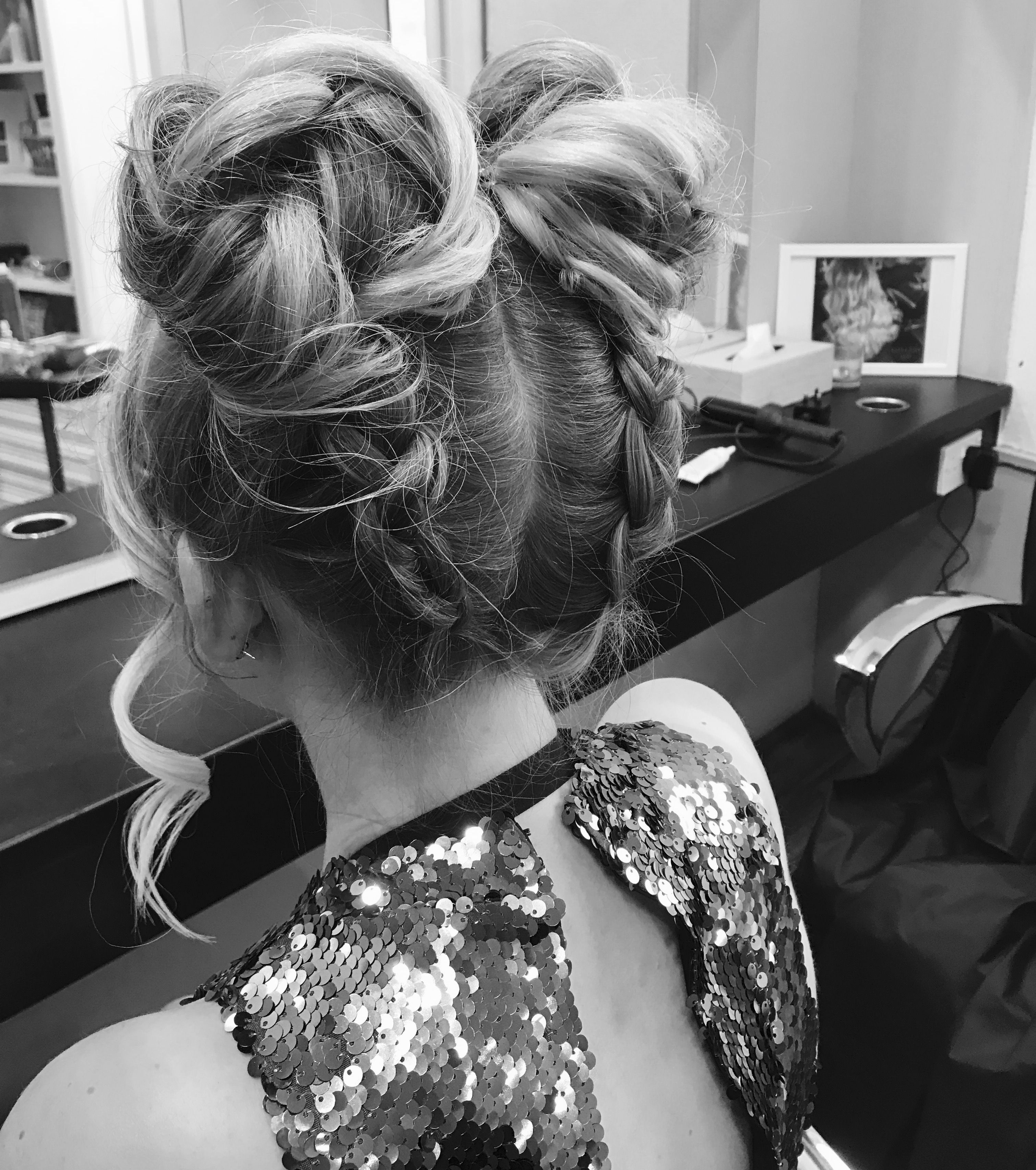 Prom Space Buns Spacebuns Braids Prom Hair Styles Ball Hairstyles Wedding Hairstyles Updo Messy