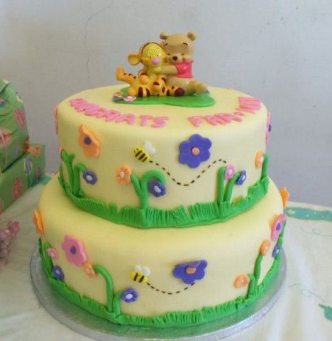 Baby Shower Cakes For Girls With Winne The Pooh | Baby Shower Cake Winnie  The Pooh