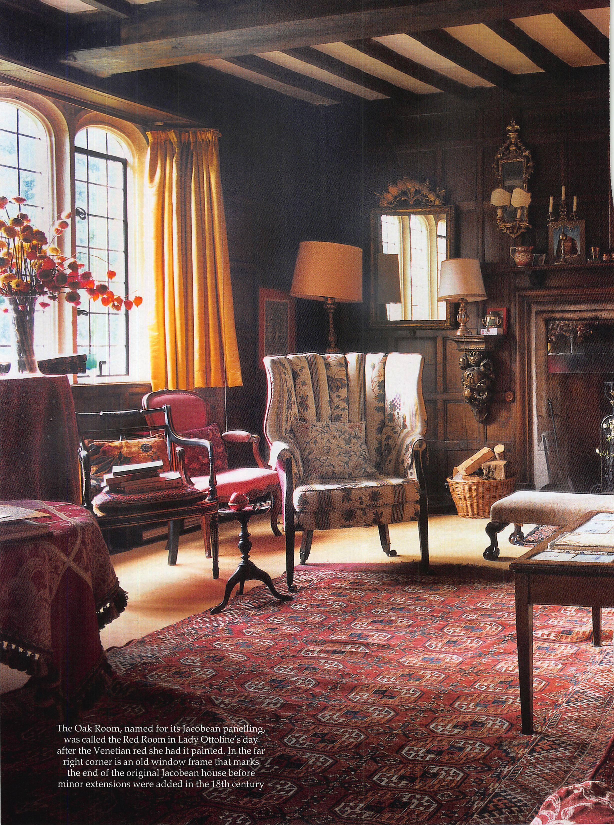 Old English Drawing Room: Garsington Manor Interior - Google Search