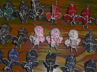 metal wire elephants